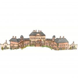illustration of a stately home