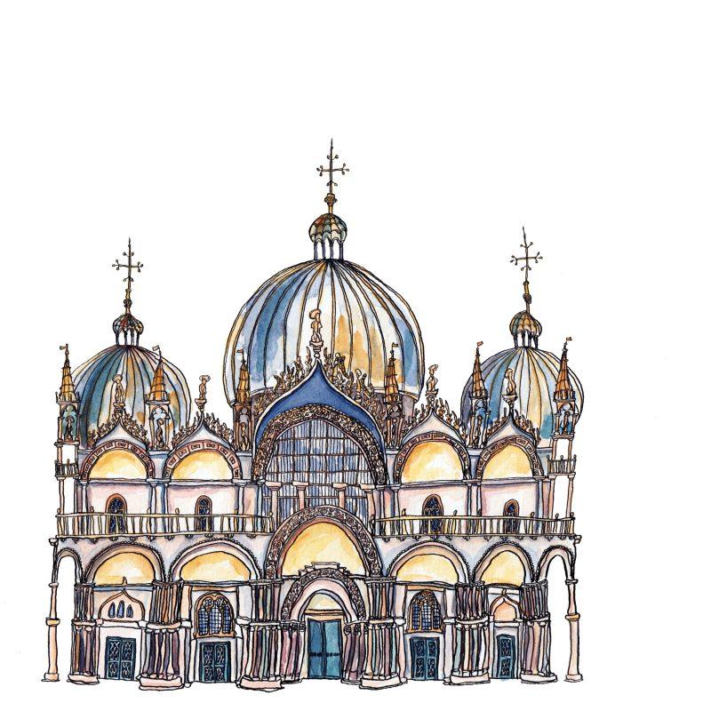 Hand drawn St Marks Basilica